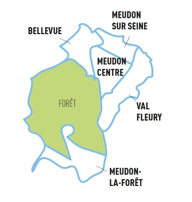 Les 5 quartiers de Meudon