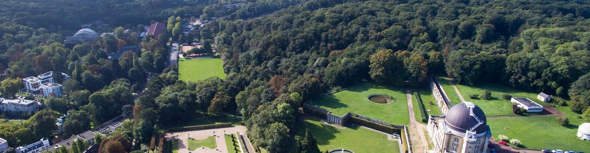 Vue aérienne de la terrasse de l'Observatoire